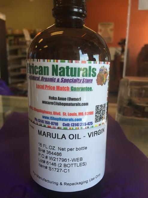 African Marula Oil - Virgin, Cold Pressed 16 Fl oz