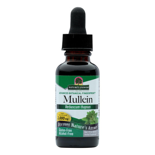 Nature's Answer - Mullein Leaf Alcohol Free - 1 Fl Oz