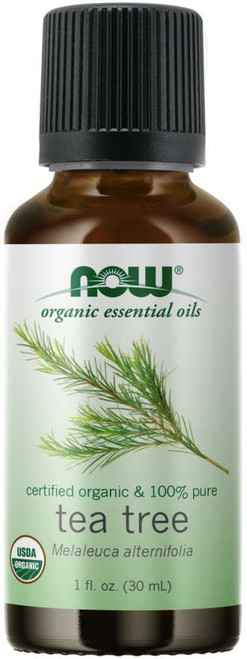 Now 100% Pure Tea Tree Essential Oil, Certified Organic - 1 oz.