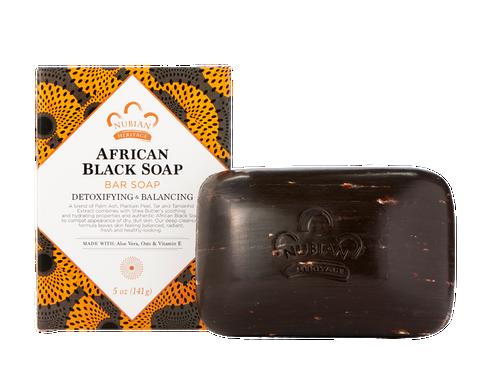 Nubian Heritage AFRICAN BLACK SOAP BAR SOAP 5 oz.