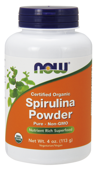 NOW Foods Spirulina Powder - Nutrient Rich Superfood (Certified Organic by QAI) - 4 oz.