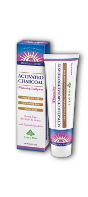 Heritage Store Activated Charcoal Toothpaste 5oz