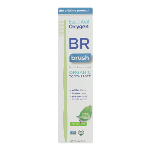 Essential Oxygen Toothpaste - Peppermint - Case Of 1 - 4 Oz.