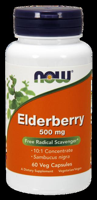 Now Elderberry 500 mg Veg Capsules Free Radical Scavenger*