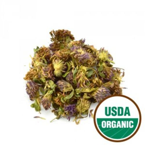 100% Organic Red Clover Blossom Whole (Trifolium pratense) 4oz