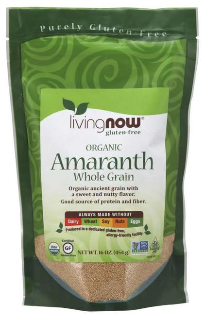 NOW 100% Amaranth Grain, Organic, NON-GMO 1Lb