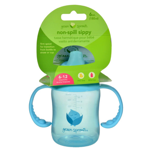 Green Sprouts Sippy Cup - Non Spill Aqua - 1 Ct