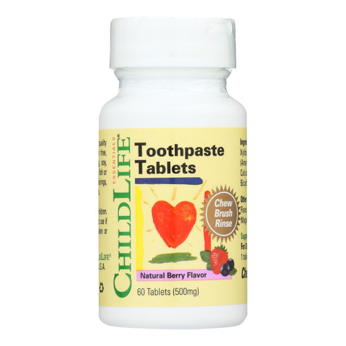 Childlife Toothpaste Tablet Natural Berry - 60 Tablets