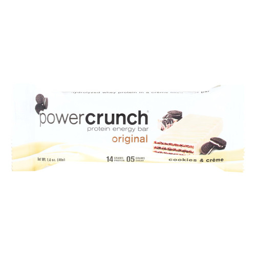Power Crunch Bar - Cookies And Cream - Case Of 12 - 1.4 Oz