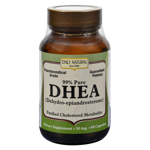 Only Natural Dhea - 50 Mg - 60 Capsules