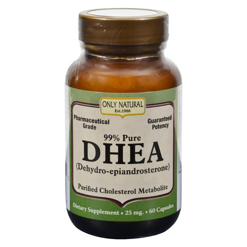 Only Natural Dhea - 25 Mg - 60 Capsules