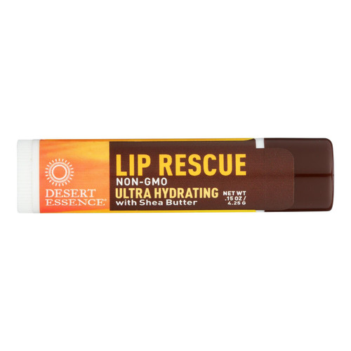 Desert Essence - Lip Rescue With Shea Butter - 0.15 Oz - Case Of 24