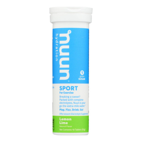 Nuun Hydration Nuun Active - Lemon And Lime - Case Of 8 - 10 Tablets
