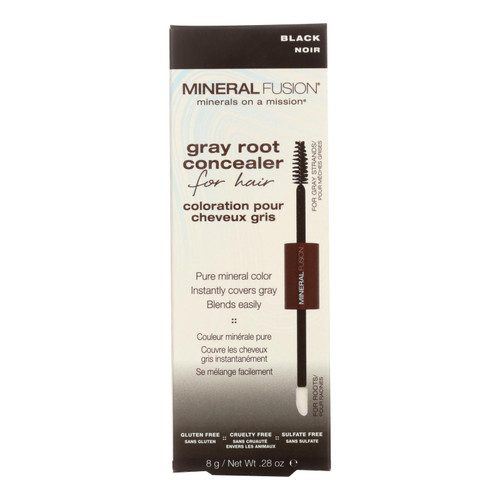 Mineral Fusion - Gray Root Concealer - Black - 0.28 Oz.