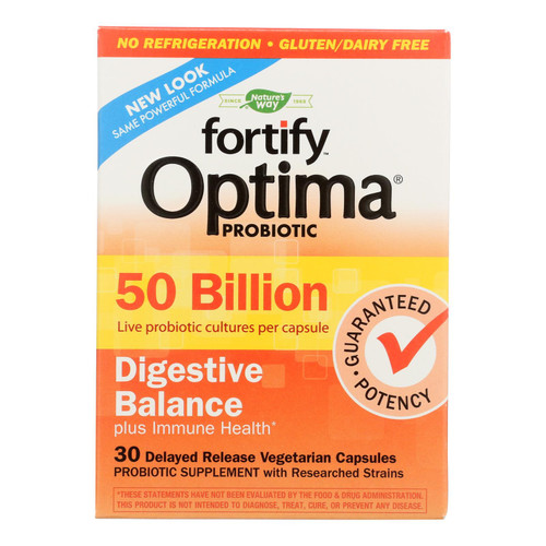 Nature's Way - Primadophilus Optima - Digestive Balance - 50 Billion - 30 Vegetarian Capsules