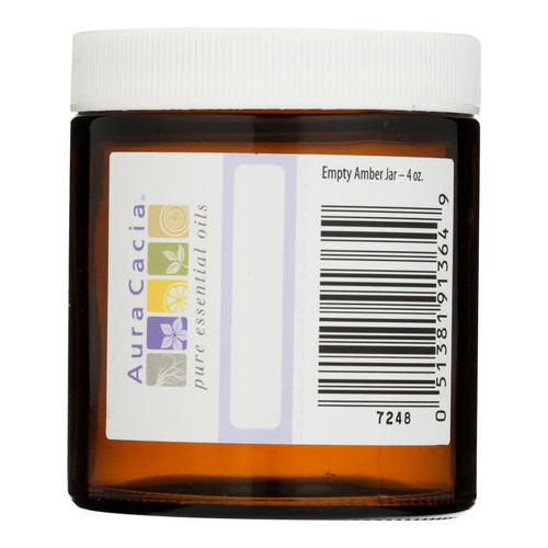 Aura Cacia - Bottle - Glass - Amber - Wide Mouth With Writable Label - 4 Oz
