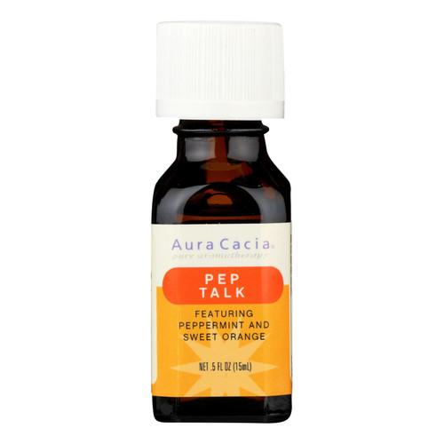 Aura Cacia - Essential Solutions Oil Pep Talk Peppermint And Sweet Orange - 0.5 Fl Oz