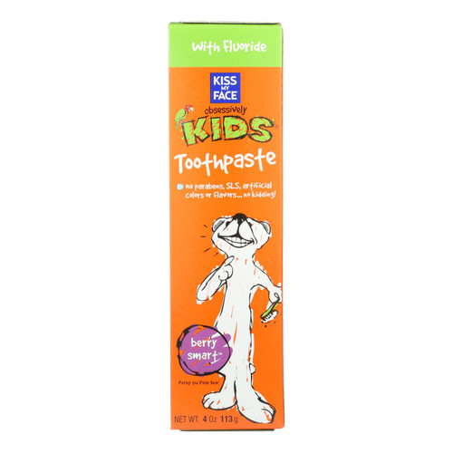 Kiss My Face Kids Toothpaste With Fluoride Berry Smart - 4 Oz