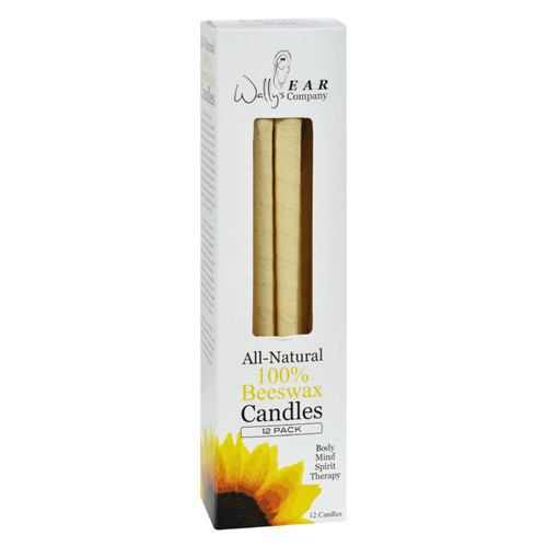 Wally's Ear Candles Beeswax Family Pack - 12 Candles