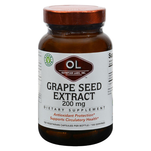 Olympian Labs Grape Seed Extra Strength - 200 Mg - 100 Capsules