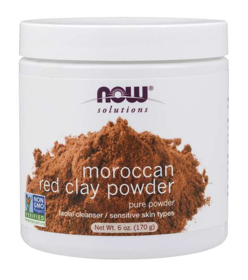 NOW® Solutions Pure Red Clay Powder Moroccan - 6 oz.