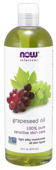 NOW® Solutions 100% Pure Grapeseed Oil - 16 fl. oz.