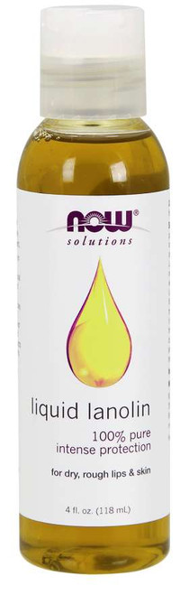 NOW® Solutions 100% Pure Liquid Lanolin Pure - 4 oz