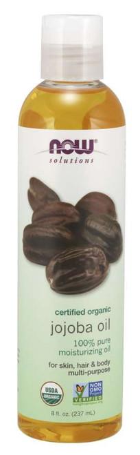 NOW® Solutions 100% Pure Jojoba Oil, Organic - 8 fl. oz.