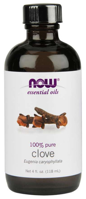 NOW® Essential 100% Pure Clove Oil - 4 fl. oz.