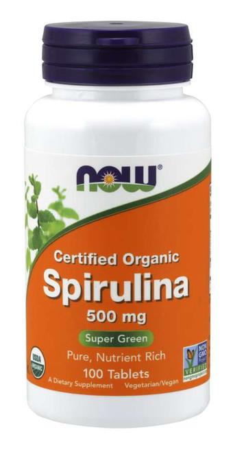 Spirulina 500 mg, Organic - 100 Tablets