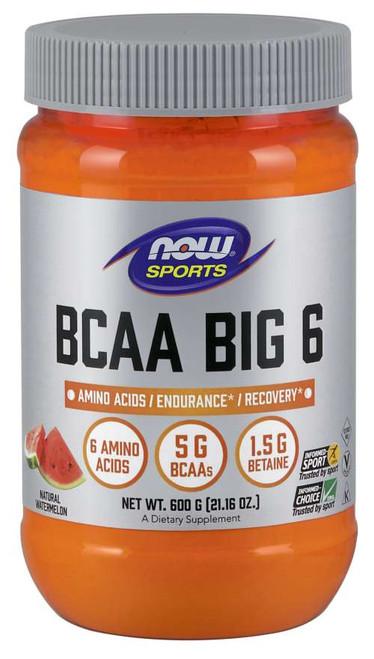 BCAA Big 6, Natural Watermelon Flavor - 600 g