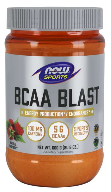 BCAA Blast Powder, Nautral Raspberry Flavor - 600 Grams