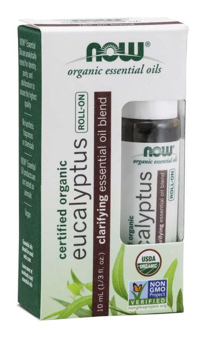 Eucalyptus Essential Oil Blend, Organic Roll-On - 10 mL