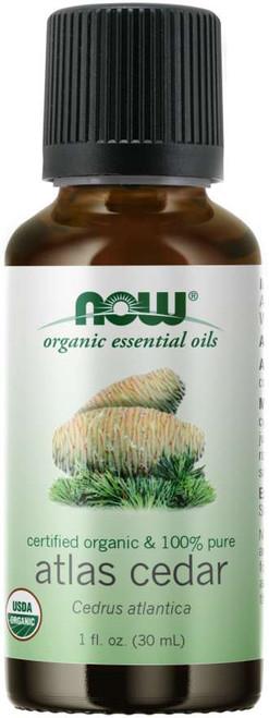 NOW Atlas Cedar Oil, Organic Certified Organic & 100% Pure
