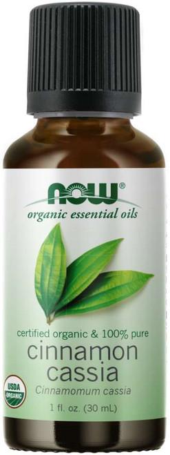 NOW Cinnamon Cassia Oil, Organic Certified Organic & 100% Pure