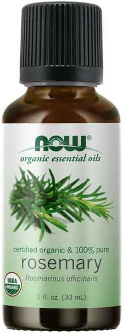 NOW 100% Pure Rosemary Essential Oil, Certified Organic - 1 oz.
