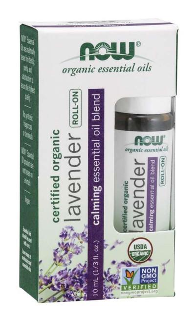 Lavender Essential Oil Blend, Organic Roll-On - 10 mL