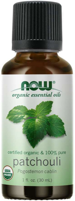 NOW® 100% Pure Patchouli Essential Oil, Certified Organic - 1 fl.