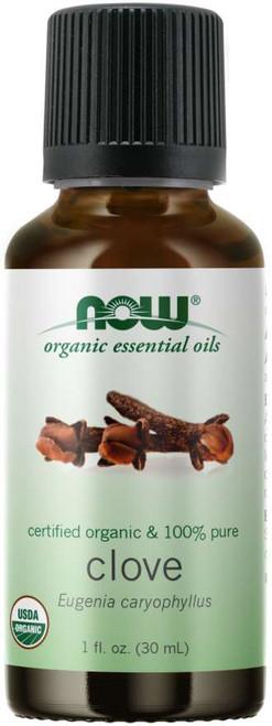 NOW® 100% Pure Clove Essential Oil, Certified Organic - 1 fl. oz.