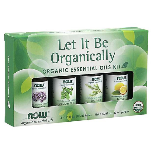 NOW® Let It Be Organically Organic Essential Oils Kit