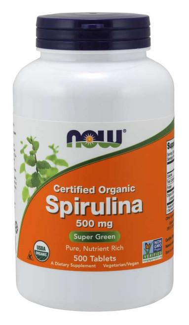 Spirulina 500 mg, Organic - 500 Tablets