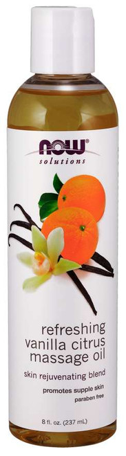 NOW® Solutions Refreshing Vanilla Citrus Massage Oil - 8 fl. oz.