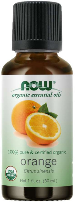 NOW® 100% Pure Orange Essential Oil, Certified Organic - 1 fl. oz.