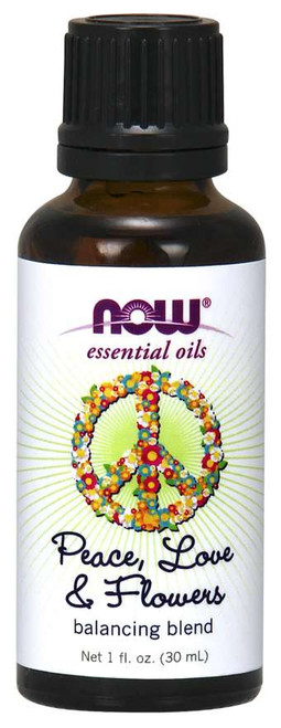 NOW® Essential Oils Peace, Love & Flowers Oil Blend - 1 oz.