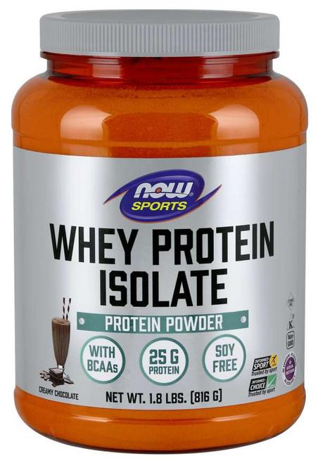 Whey Protein Isolate, Creamy Chocolate Powder - 1.8 lbs.