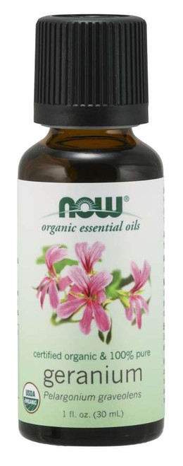 NOW® 100% Pure Geranium Oil, Organic 1 fl. oz.