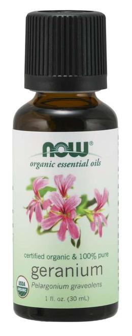 NOW® 100% Pure Geranium Oil, Organic 1 fl. oz.