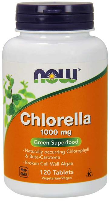 NOW Chlorella 1000 mg - 120 Tablets