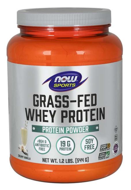 Grass-Fed Whey Protein, Creamy Vanilla Powder - 1.2 lbs.