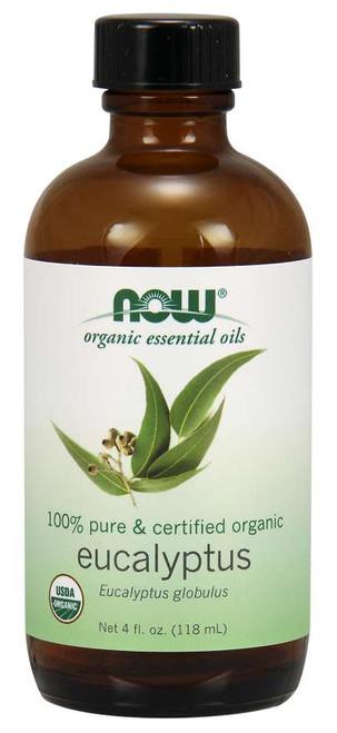 NOW 100% Pure Eucalyptus Globulus Oil, Organic - 4 fl. oz.